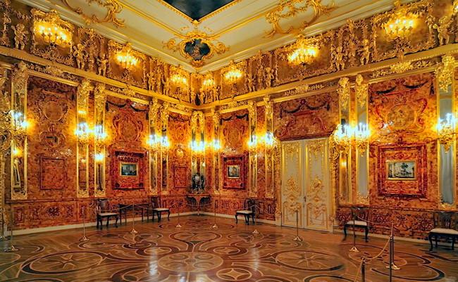 Chambre en ambre russe