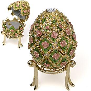 Oeuf Fabergé rose treillis