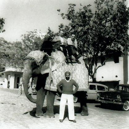 Claude et Pierre Arpels en Inde, années 1950