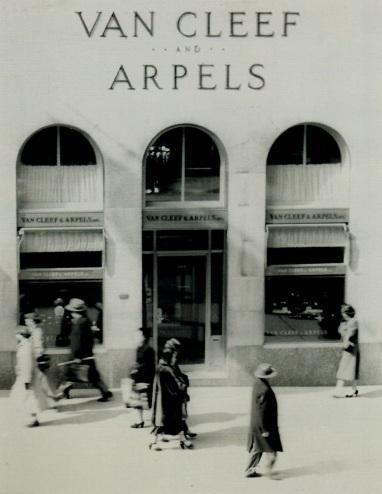 La boutique Van Cleef & Arpels, à New York, années 1940