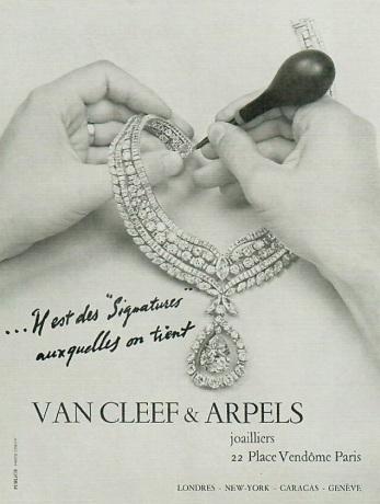Publicité Van Cleef & Arpels, vers 1960